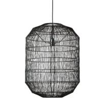Metalen hanglamp met zwart gevlochten koord Cage