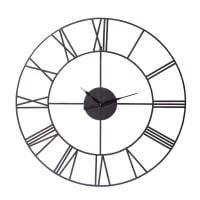Metalluhr im Industrial-Stil , D107, schwarz Sirius