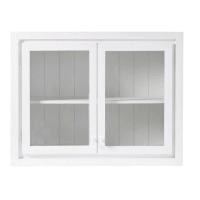 Meuble haut de cuisine 2 portes vitré blanc Embrun