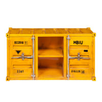 Meuble TV container en métal jaune L 129 cm Carlingue