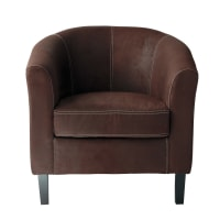 Microsuede Armchair in Brown Baltimore
