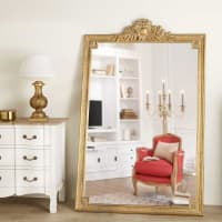 Miroir à moulures dorées 120x185 Victoire