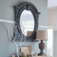 Miroir à moulures en manguier noir 134x150 Flandres