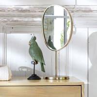 Miroir à poser en métal doré 21x44 Montebello