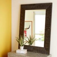 Miroir brun foncé 90x120cm Malawi