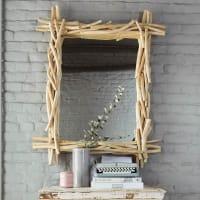 Miroir en bois flotté H 113 cm Rivage