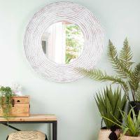 Miroir en fibre de verre blanc 109x109 Panama