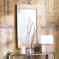 Miroir en manguier et métal effet chromé H 120 cm Helsinki