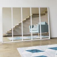 Miroir en métal blanc 123x180 Cargo