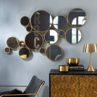 Miroir en métal doré 141x83 Goldfinger