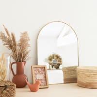 LEANA - Miroir en métal doré 36x50