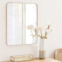 Miroir en métal doré 51x61 Clifton