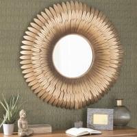 Miroir en métal doré D 103 cm Tivoli