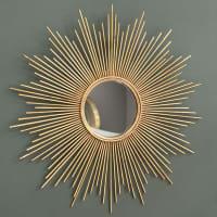 Miroir en métal doré D99 Magellan