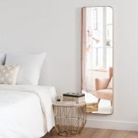 CLIFTON - Miroir en métal doré mat 39x129