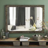 Miroir en métal effet vieilli 110x80 Alvin