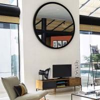 Miroir en métal noir D159 Stratford