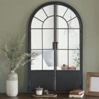 Miroir en métal noir mat 65x110 Brett