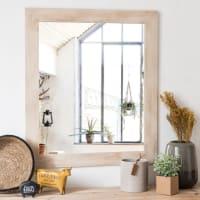 Miroir en paulownia 60x70 Laure