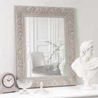 Miroir en paulownia beige 70x90 Aliénor