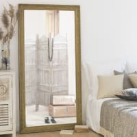 VALENTINE - Miroir en paulownia doré 90x180