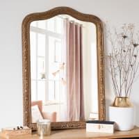 Miroir en paulownia doré mat 65x95 Fontenay