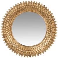 ANGELINA - Miroir en résine dorée effet vieilli D30