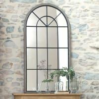 Miroir fenêtre demi-lune en sapin 76x146 Sainte-Maxime