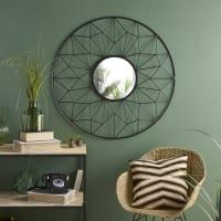 Miroir filaire noir D95 Estrella