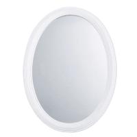 Miroir ovale à moulures blanc 40x55 Saint Honore