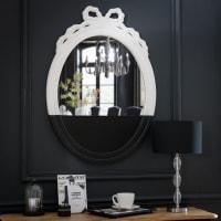 Miroir ovale à moulures noir et blanc 45x90 Chantal Thomass