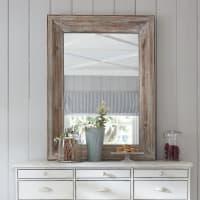 Miroir rectangulaire blanchi 83x112 Perrine