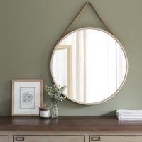 Miroir rond à suspendre en bouleau D59 Alden