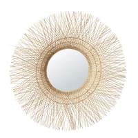 Miroir rond en fibre de coco D106 Salvador