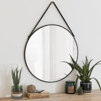 Miroir rond en métal noir D55 Cody