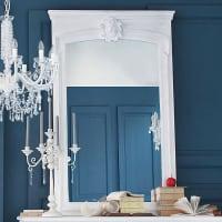 Miroir trumeau en paulownia blanc 100x160 Joséphine
