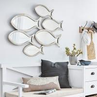 Miroirs poissons en métal chromé 95x72 Bandol