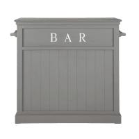 Mobile bar grigio in legno L 120 cm Newport
