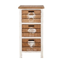 Mobiletto portatutto a 3 cassetti in legno d'abete Seaside