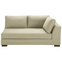 Modulares Sofa mit rechter Armlehne aus Baumwolle kittfarben Terence