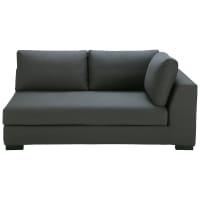 Modulares Sofa mit rechter Armlehne aus Baumwolle schiefergrau Terence