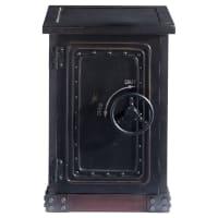 Móvel caixa-forte de madeira preta com efeito envelhecido largura 53 cm Bank