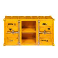Móvel de TV contentor amarelo de metal largura 129cm Carlingue