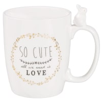 Mug en porcelaine blanche Romantique