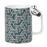 Mug in maiolica stampa zebre