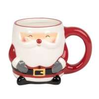 HOHOHO - Lot de 2 - Mug Père Noël en faïence