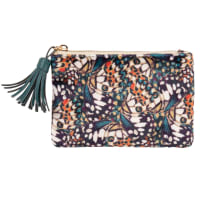 BUTTERFLY - Multicoloured butterfly-print coin purse