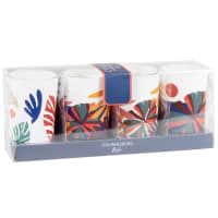 JOAHNNESBURG - Set of 2 - Multicoloured scented glass candles (x4)