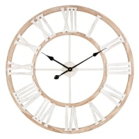 IRVINE - Natural-Coloured and White Clock D70
