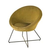 HIPOP - Okerkleurige fluwelen fauteuil